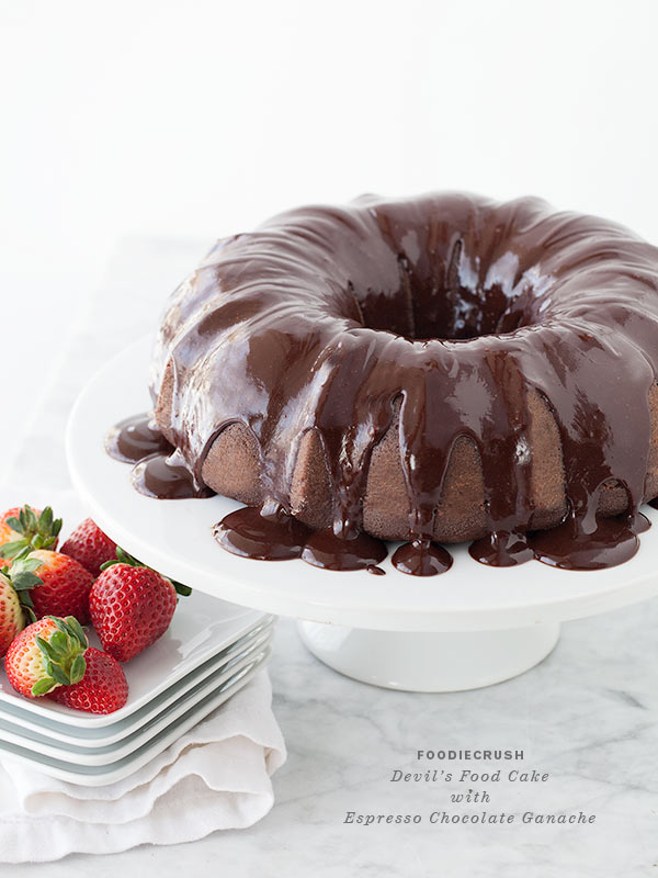 Devil's Food Bundt Cake with Chocolate Espresso Ganache ...
