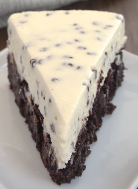 Chocolate Chip Cheesecake with Brownie Crust – Eat More Chocolate ...